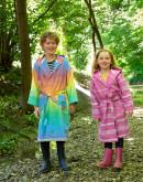 Bio-Bademantel Kids Fuchsia